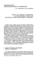 Pour la science cognitive: La métaphore cognitive est-elle ...