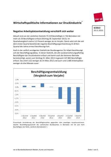 Wirtschaftsinfo DI 4/2013 - Verlage, Druck und Papier - Ver.di