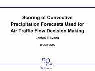 Scoring of convective precipitation forecasts used for air traffic flow ...