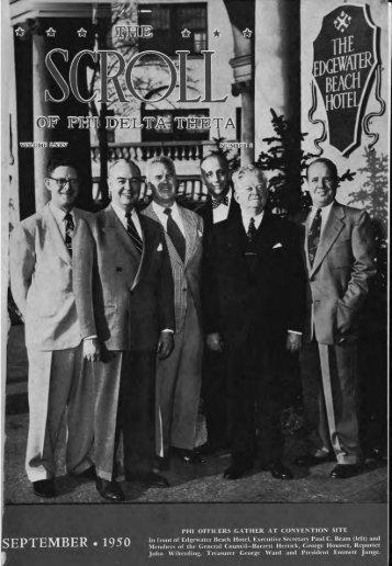 1950–51 Volume 75 No 1–5 - Phi Delta Theta Scroll Archive
