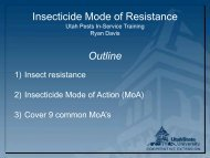 Insecticide Mode of Resistance Outline - Utah Pests
