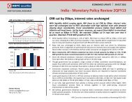 India - Monetary Policy Review 2QFY13 - HDFC Securities