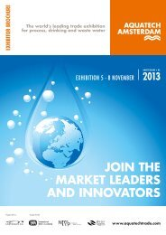 JOIN THE MARKET LEADERS AND INNOVATORS - Aquatechtrade