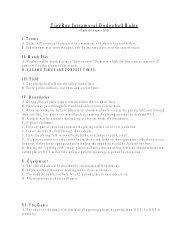 H-SC Intramural Dodgeball Rules