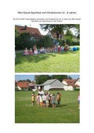 Mini-Gaudi-Sportfest vom Kinderturnen (4 - 6 Jahre) - SV Dietersheim