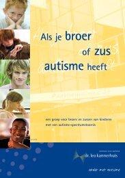 Als je broer of zus autisme heeft - Dr. Leo Kannerhuis