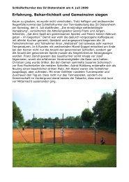 Erfahrung, Beharrlichkeit und Gemeinsinn siegen - SV Dietersheim