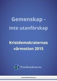 Kristdemokraternas vårmotion 2015