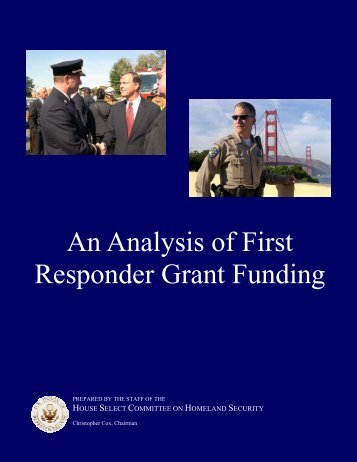 An Analysis of First Responder Grant Funding - Center for ...