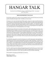 HANGAR TALK - Washington Pilots Association