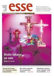 Ristin takana on valo - Espoon seurakuntasanomat