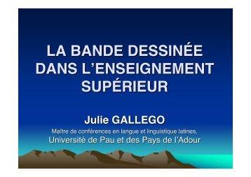 gallego-la bande dessinée dans l'enseignement supérieur