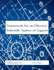 Framework for an Effective Statewide System of Support - Academic ...