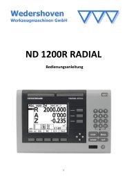 Bedienungsanleitung ND 1200 R RADIAL (PDF) - Wedershoven ...