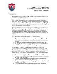 us soccer federation national coaching program national 'c' license