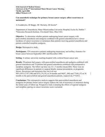 es2:1-19,Abstracts of the 9th Int Mater - IJMS | Irish Journal of ...