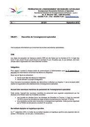Nouvelles de l'enseignement spécialisé - Accueil fédération - SeGEC