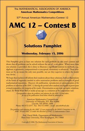 aMC 12 – Contest b