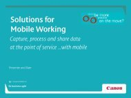 """""""Solutions for Mobile Working"""" [PDF, 3 MB] - Canon CEE"""