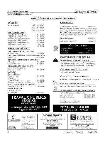 Volume 4, Numéro 09, Octobre 2006 - Ville de Donnacona
