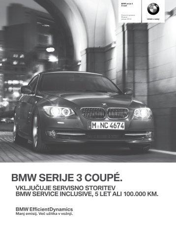 Prenos podatkov Trenutne cene za BMW Serija 3 coupé (PDF, 266k).