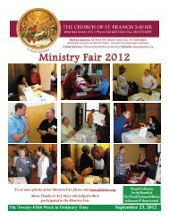 Ministry Fair 2012 - Church of St. Francis Xavier