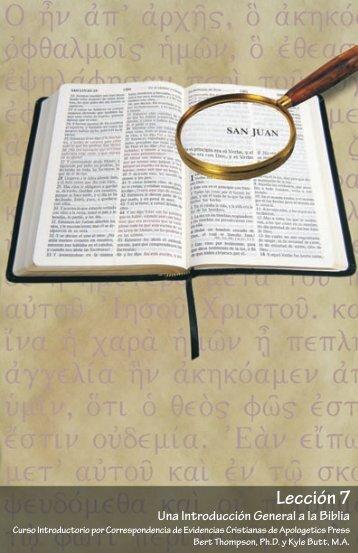 Una Introducción General a la Biblia - Apologetics Press