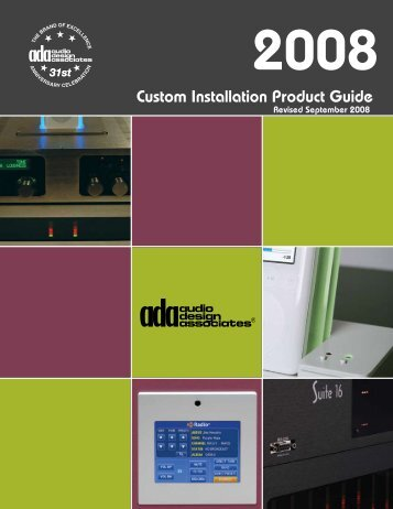 Custom Installation Product Guide - Hill Residential Systems