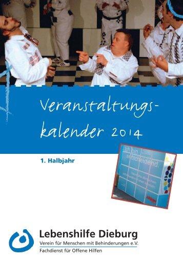 Veranstaltungskalender 1/2014 - Lebenshilfe Dieburg eV