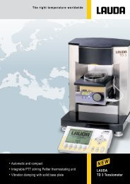 LAUDA TD 3 Tensiometer • Automatic and compact • Integrable PTT ...