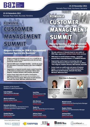 Romania Customer Management Summit - Blue Business Media