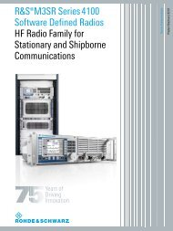 R&S®M3SR Series 4100 Software Defined Radios HF Radio Family ...