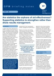 Are Statistics the Orphans of Aid Effectiveness? - Oxford Policy ...