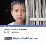 Nutrition Brochure - The Chars Livelihoods Programme