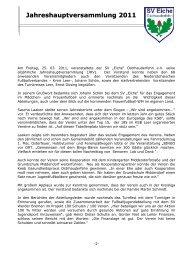 Jahreshauptversammlung 2011 - Sportverein SV Eiche ...