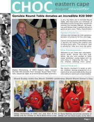 Gonubie Round Table donates an incredible R20 000! - CHOC