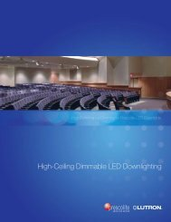 High-Ceiling Dimmable LED Downlighting - Prescolite