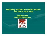 Facilitating readiness for natural hazards: The role of social trust ...