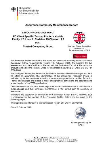 BSI-CC-PP-0030-2008-MA-01 - Bundesamt für Sicherheit in der ...