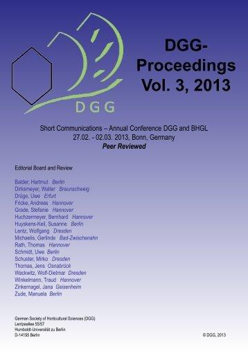 DGG-Proceedings Vol. 2, 2012