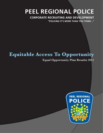 2011 Equal Opportunity Plan - Cover.indd - Peel Regional Police