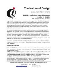The Nature of Design CALL FOR ABSTRACTS IDEC 2011 Pacific ...