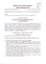 Městský úřad Uherský Ostroh odbor výstavby a ZP Pasta;