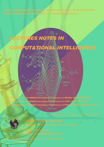 lectures notes in computational intelligence - WSEAS
