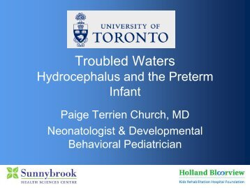 Troubled waters: hydrocephalus and the preterm infant