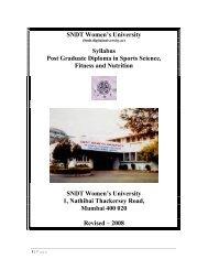 S DT Women's University Syllabus Post Graduate Diploma in Sports ...