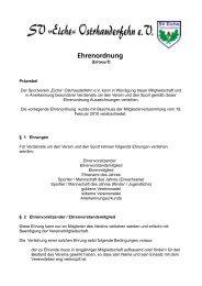 Ehrenordnung - Sportverein SV Eiche Ostrhauderfehn