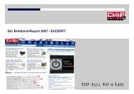 Der Breitband-Report 2007 - EXCERPT