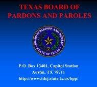 TEXAS BOARD OF PARDONS AND PAROLES