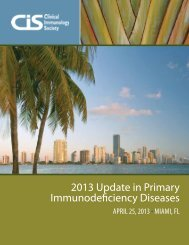 2013 Update in Primary Immunodeficiency Diseases - Clinical ...